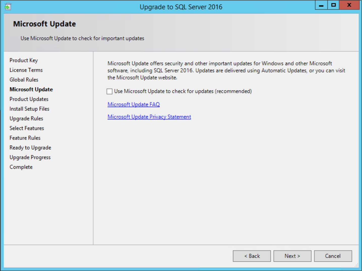 Configuration Manager SQL Upgrade | Wetter's Source